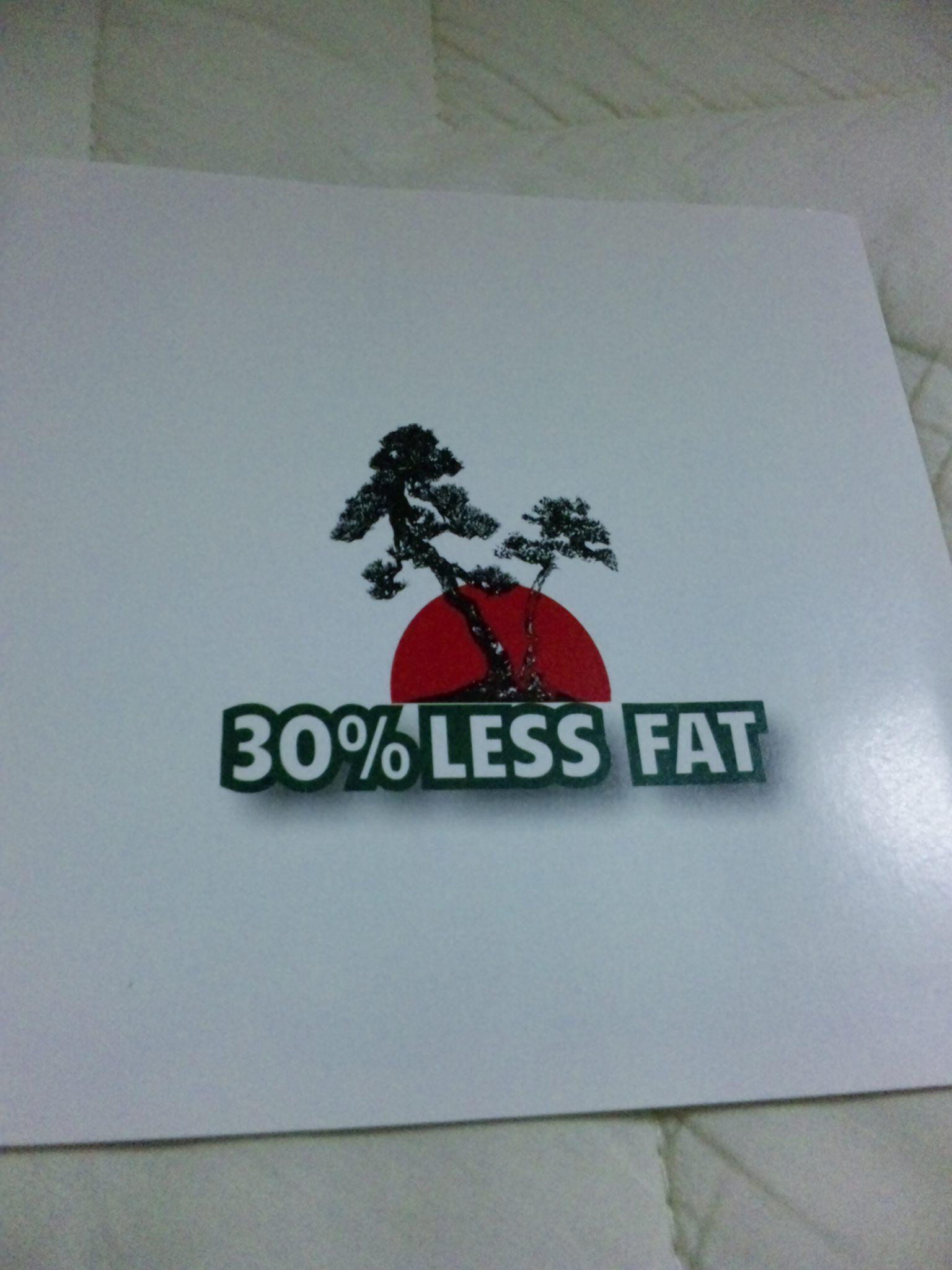 30%LESS FAT